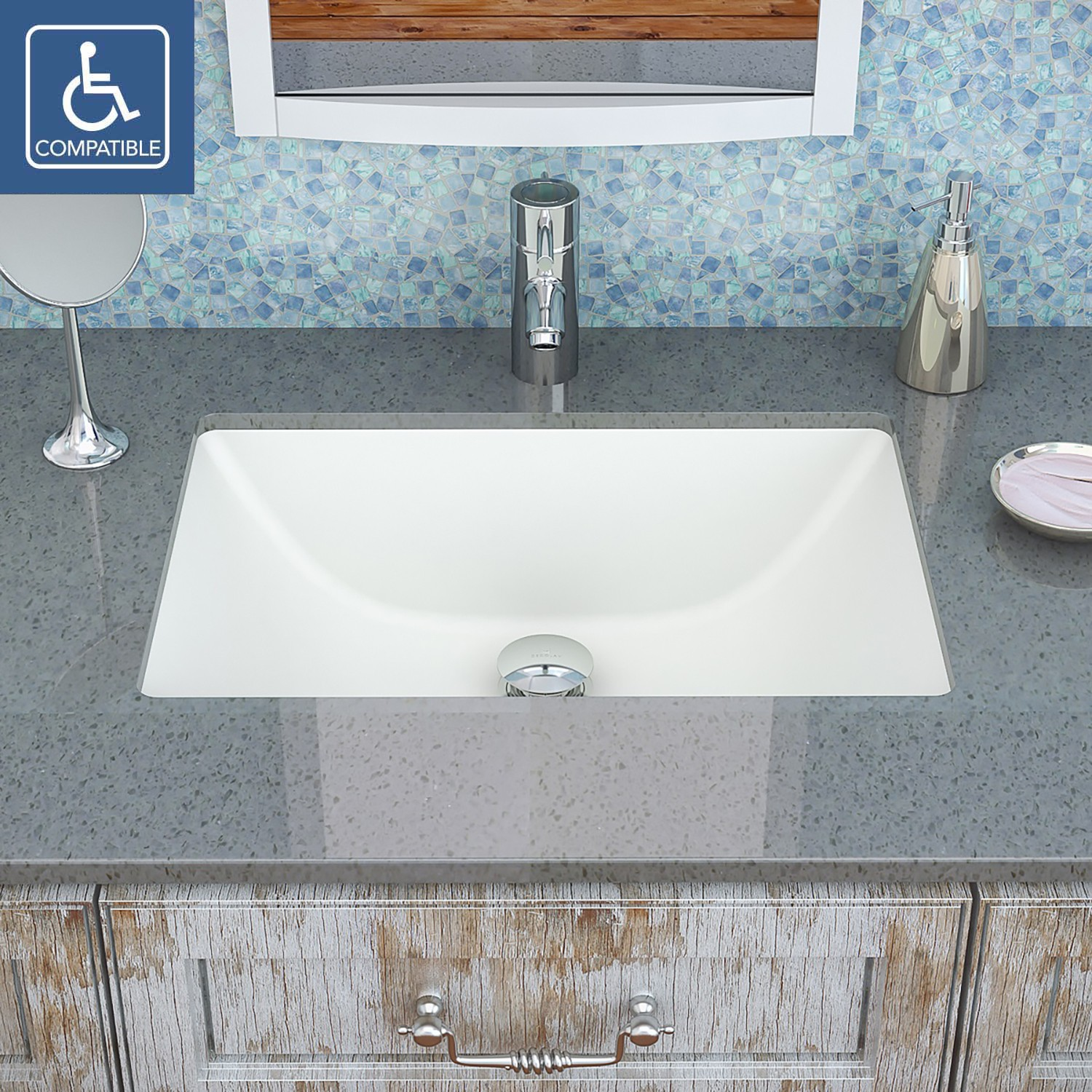 a rectangle vitreous china sink has it all classic design high and timeless beauty this rectangular undermount bathroom sink has soft
