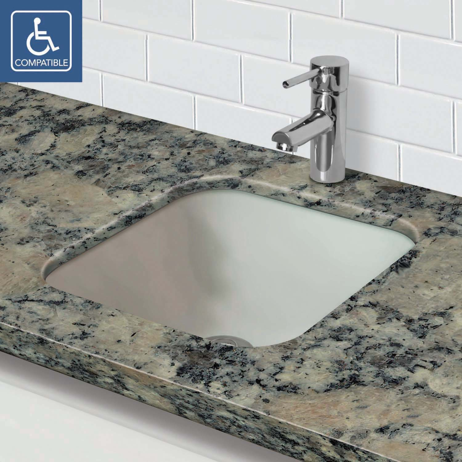 Glass undermount bathroom sinks