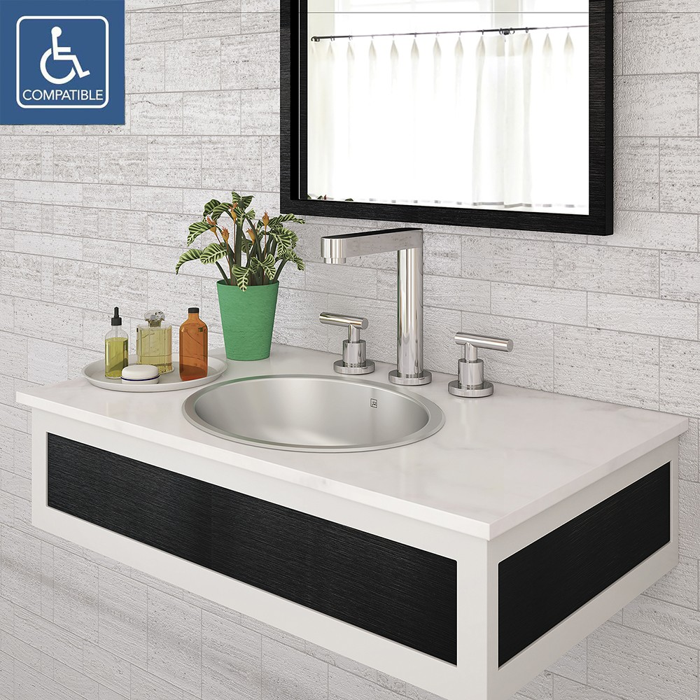 DECOLAV Taji 1300 Simply Stainless Collection   Oval Undermount Stainless  Steel Bathroom Sink