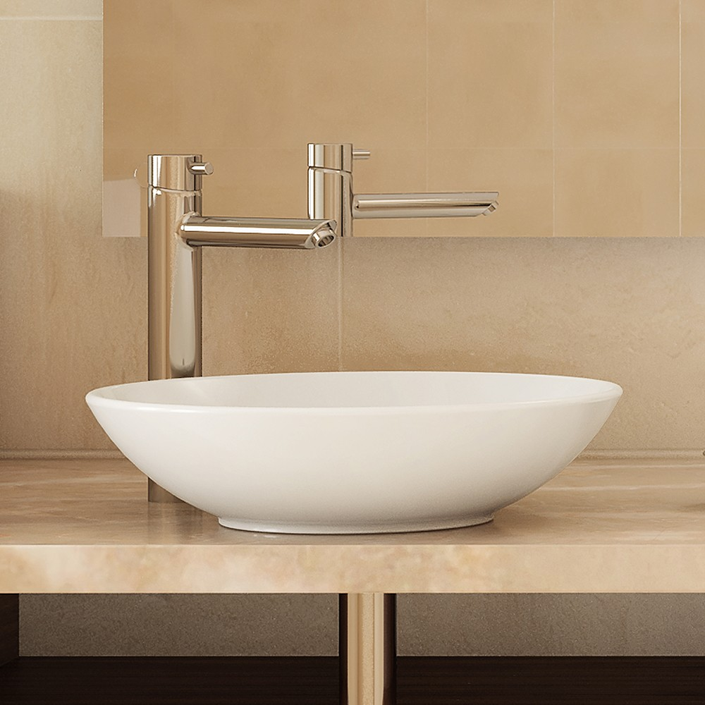 Ryenne Round Above-Counter Vitreous China Bathroom Sink