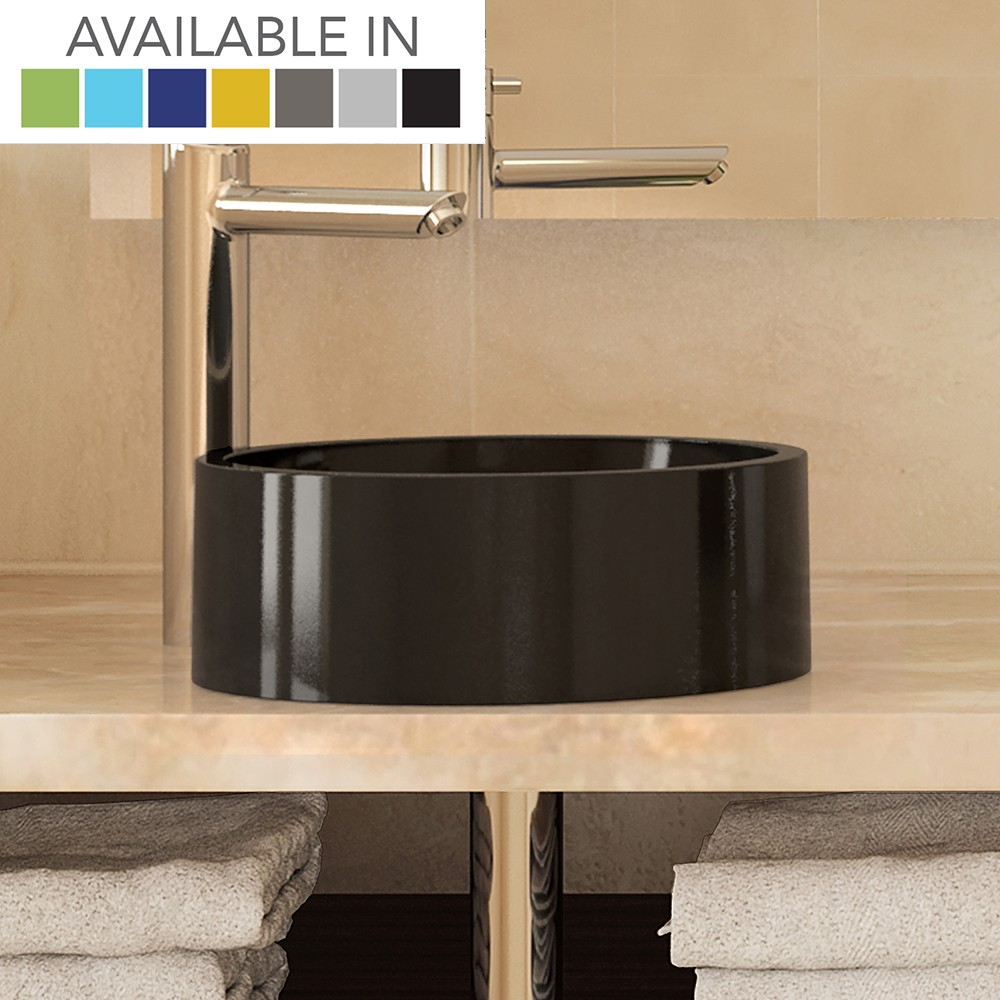 Lana Round Above-Counter Bathroom Sink