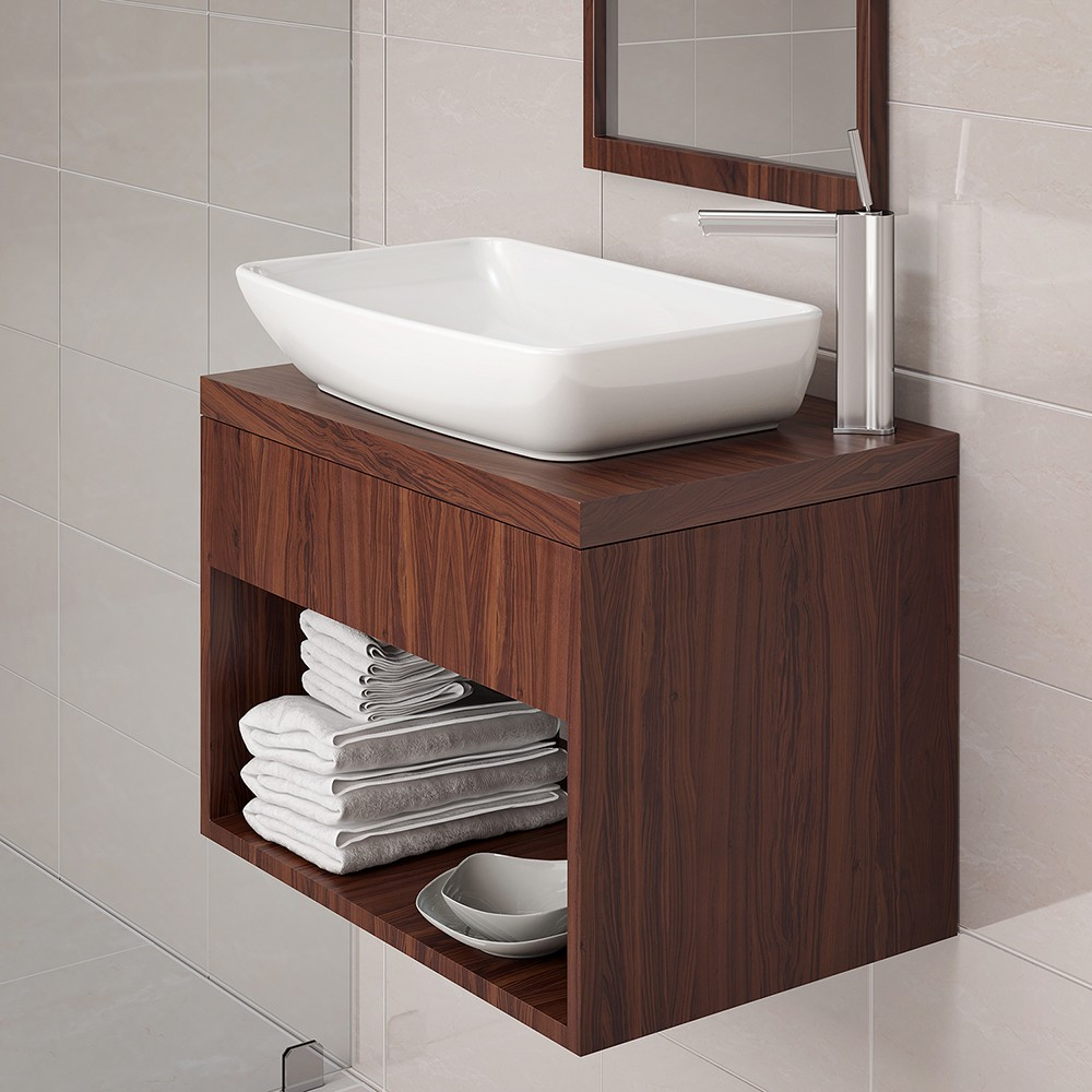 Classically Redefined<sup>®</sup> Rectangular Above-Counter Vitreous China Bathroom sink