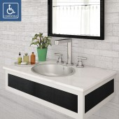 Taji Oval Undermount or Drop-in Stainless Steel Lavatory