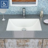 Callensia<sup>®</sup> Rectangular Undermount Vitreous China Bathroom Sink