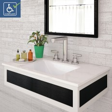 Amabella Rectangular Undermount Vitreous China Bathroom Sink