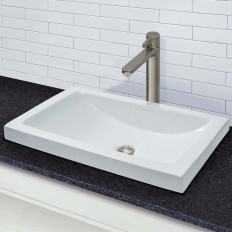 Breanna Rectangular Semi-Recessed Vitreous China Lavatory
