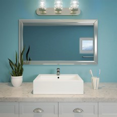 Bluebell Rectangular Above-Counter Vitreous China Bathroom Sink