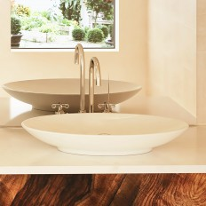 Lavender Oval Above-Counter Vitreous China bathroom sink