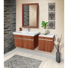 LAKESIDE® WALL MOUNT VANITY WITH SIDE CABINET
