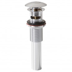 Decorative Push Button Umbrella Top Drain with Overflow