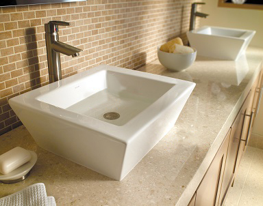 DECOLAV bathroom lavatories, DECOLAV 1432 CWH, bathroom sinks