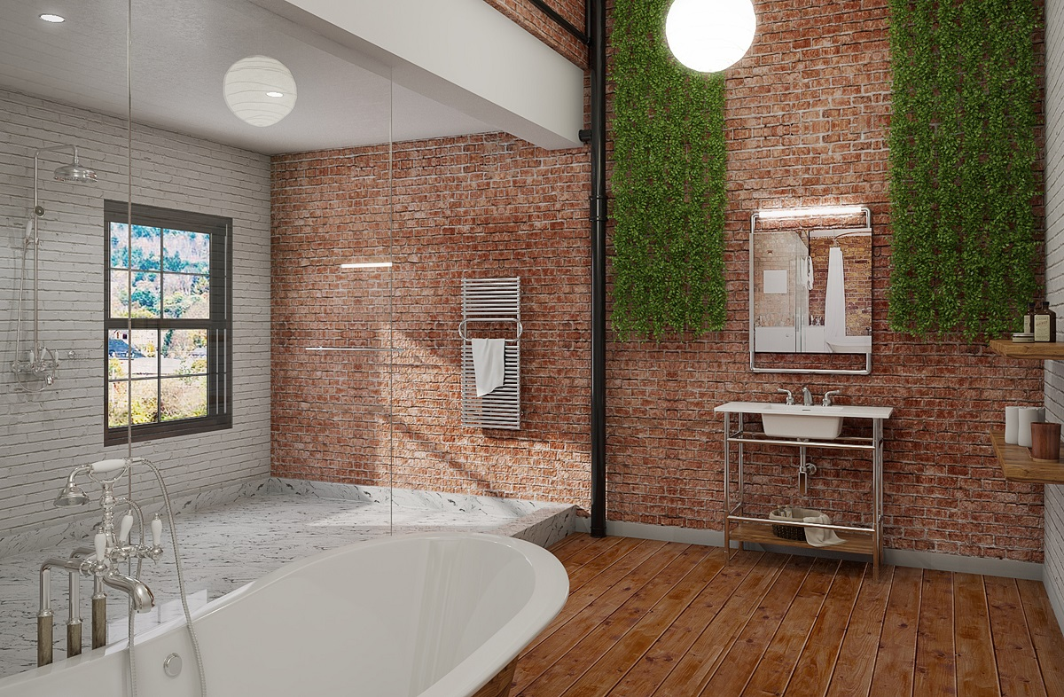 Beau Industrial Bathroom Design