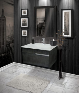 wall-mounted vanities