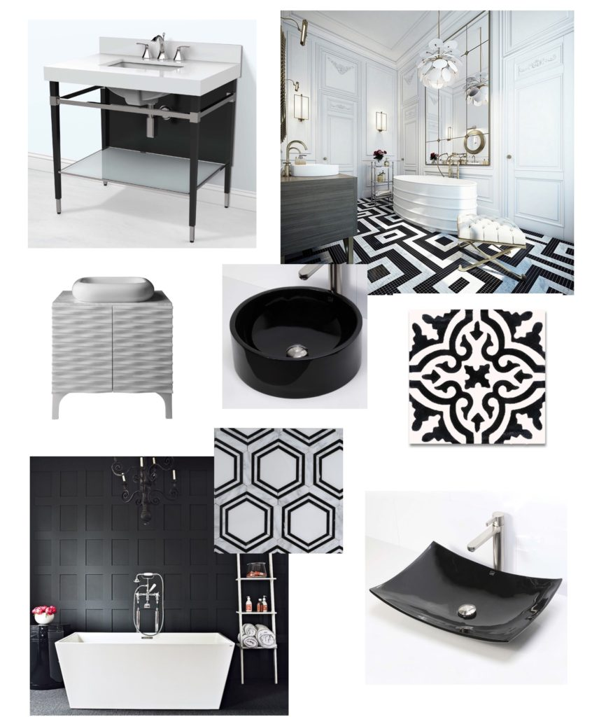 black and white bathroom, monochromatic, instant classic, bathroom design, small bathroom ideas, DIY remodeling, DIY renovation