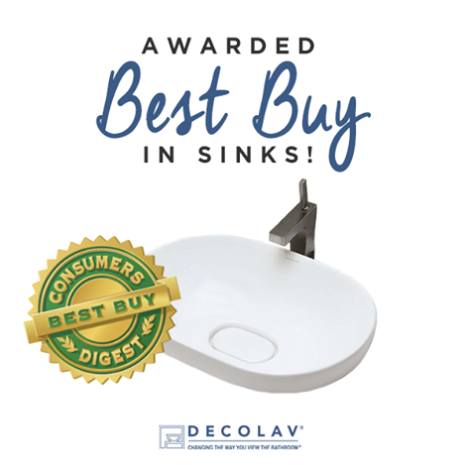 Consumers Digest Awards DECOLAV Best Buy in Sinks