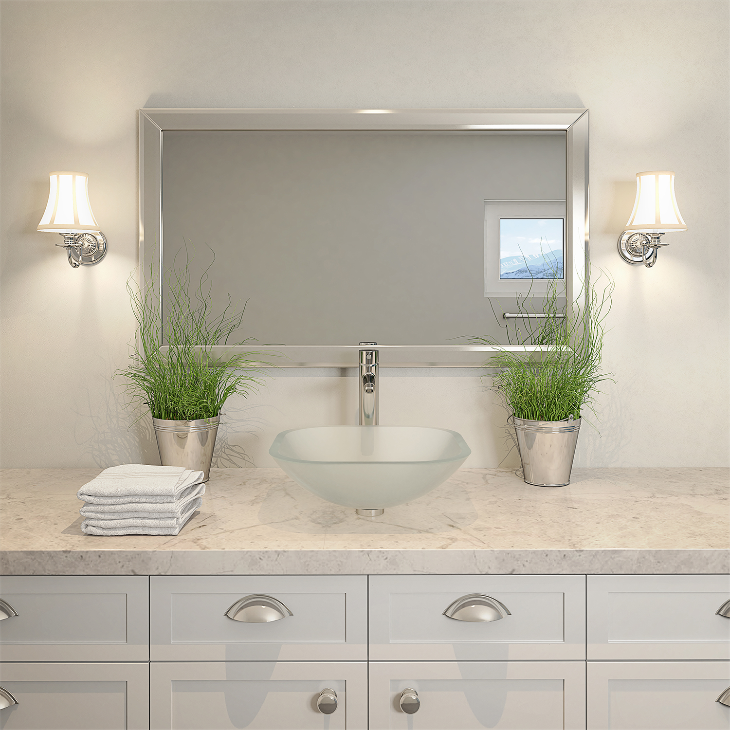 Small Bathroom Tips: Creating a Light and Bright Feeling