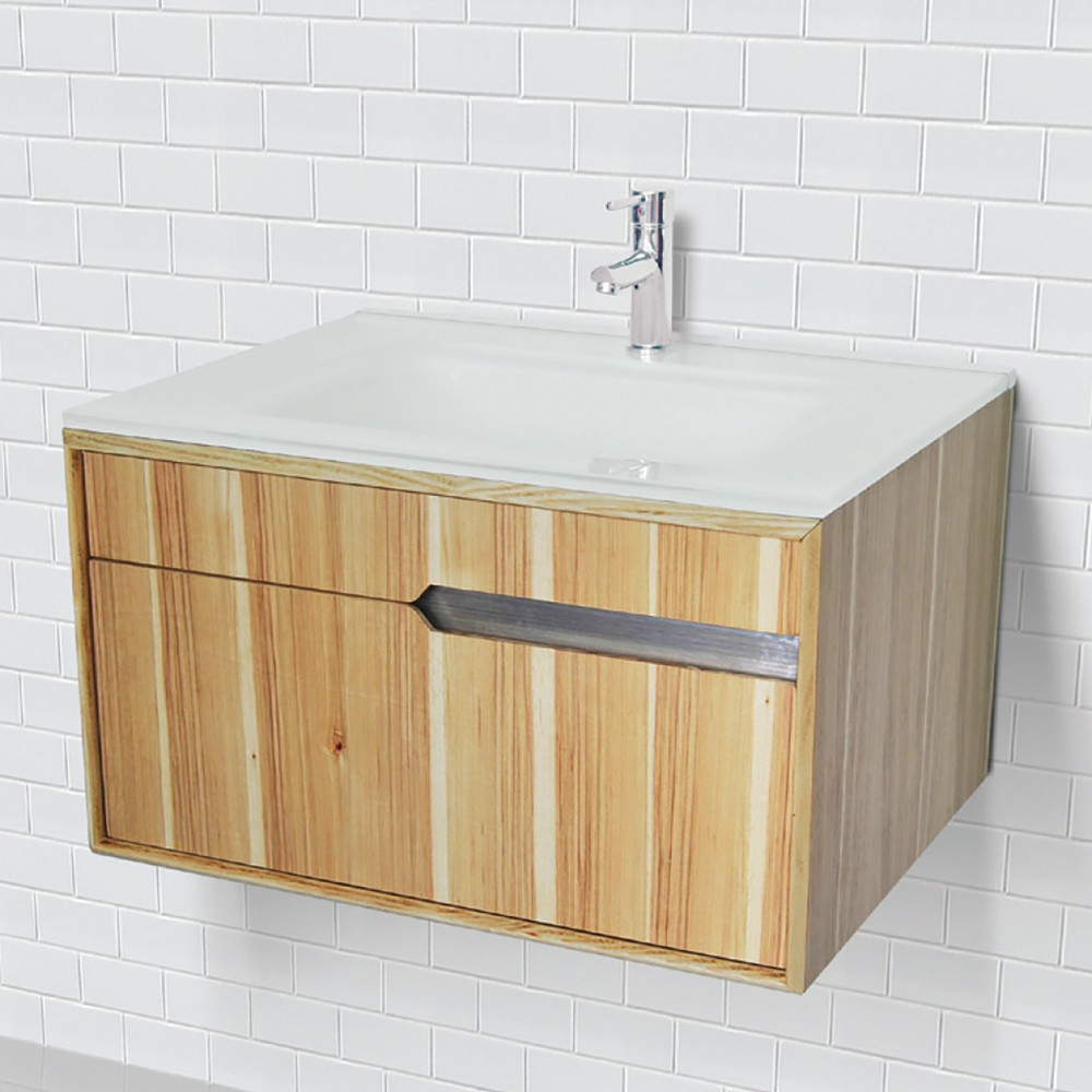 Decolav 1802 Series Wallmount Vanity With Tempered Glass
