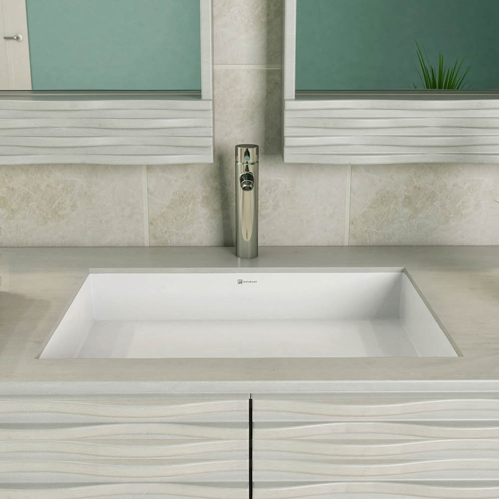 Solid Surface Bathroom Sink: SOLID SURFACE RECTANGULAR UNDERMOUNT