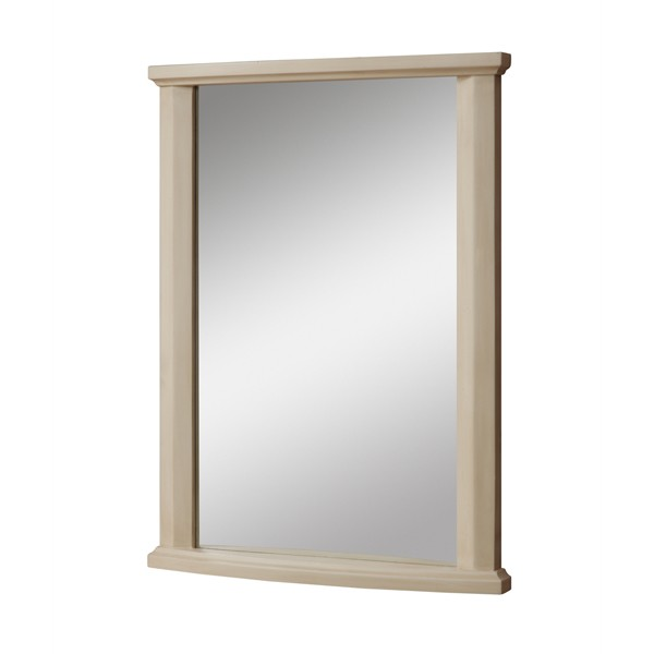 Olivia Collection Antique White Wall Mirror