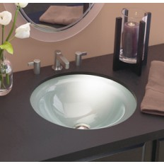 Terra Round Undermount Glass Sink