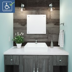 Aurelia Square Above-Counter Vitreous China Bathroom Sink