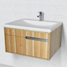 CITYSCAPE® COLLECTION WALLMOUNT VANITY WITH SOLID SURFACE COUNTERTOP AND BATHROOM SINK