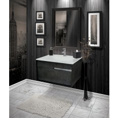 CITYSCAPE® WALLMOUNT VANITY WITH TEMPERED GLASS COUNTERTOP