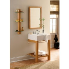 Infusion™ Lavatory Console with Rectangular Mirror and Shelf