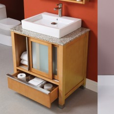 Tyson Collection Maple Vanity with Carmello Granite Top and White Vitreous China Lavatory